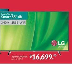 Oferta de Smart tv led 55'' LG por $16699