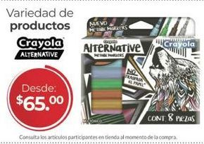 Oferta de Colores y pinturas Crayola por $65