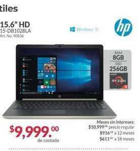 Oferta de Laptop HP por $9999