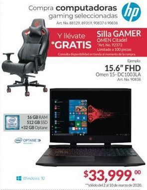 Oferta de Laptop HP por $33999