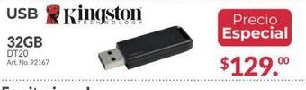Oferta de Usb 32Gb Kingston por $129