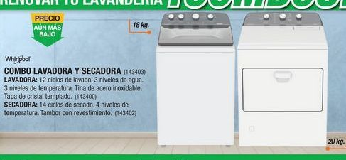 Oferta de Lavadora secadora Whirlpool por