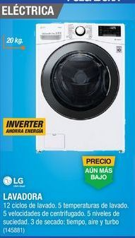 Oferta de Lavadoras LG por