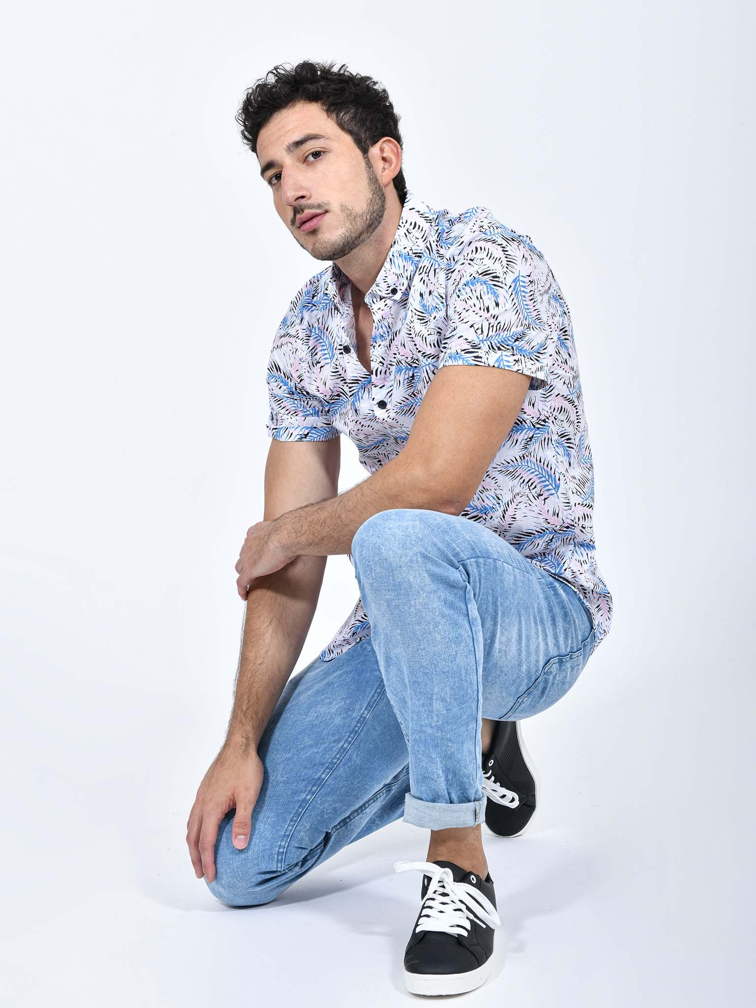 Oferta de Camisa Tropical Manga Corta por $206.1