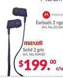 Oferta de Audífonos Maxell por $199