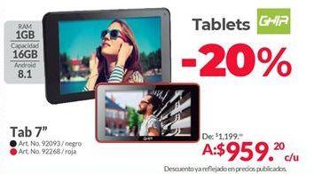 Oferta de Tablet Android Ghia por $959.2