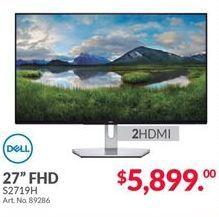 Oferta de Monitor lcd Dell por $5899