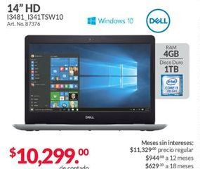 Oferta de Laptop Dell por $10299