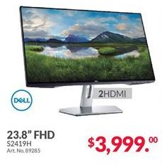 Oferta de Monitor led 24'' Dell por $3999