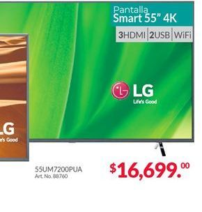 Oferta de Smart tv led 55'' LG por $16699