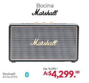 Oferta de Bocinas bluetooth Marshall por $4299