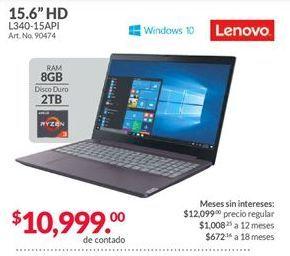 Oferta de Laptop Lenovo por $10999