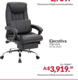 Oferta de Silla de oficina por $3919.2