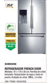 Oferta de Refrigerador dos puertas Samsung por