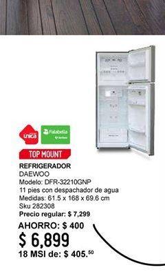 Oferta de Refrigeradores Daewoo por $6899