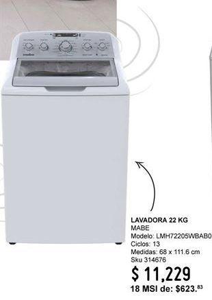 Oferta de Lavadora de carga superior Mabe por $11229