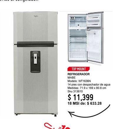Oferta de Refrigeradores Mabe por $11399