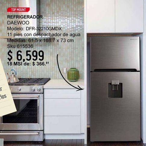 Oferta de Refrigeradores Daewoo por $6599