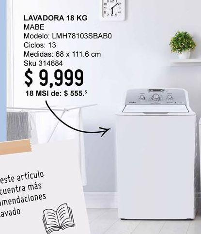 Oferta de Lavadora de carga superior Mabe por $9999