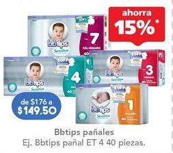 Oferta de Pañales BBtips por $149.5