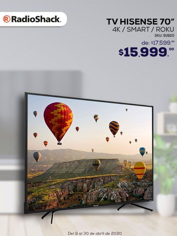 """Oferta de Smart tv Hisense 70"""" por $15999"""