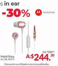 Oferta de Audífonos Motorola por $244.3