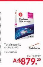 Oferta de Antivirus Bitdefender por $879.2