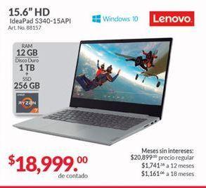 Oferta de Laptop Lenovo por $18999