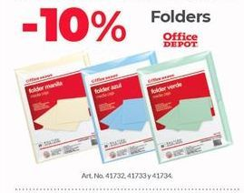 Oferta de Carpetas Office Depot por