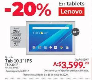 Oferta de Tablet Lenovo por $3599.2