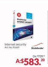 Oferta de Antivirus Bitdefender por $583.2