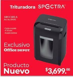 Oferta de Destructora de papel Spectra por $3699