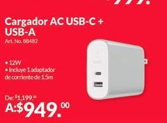 Oferta de Cargador universal por $949