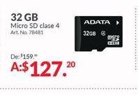 Oferta de Memoria externa Adata por $127.2