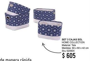 Oferta de Cajas Home Collection por $605