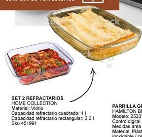 Oferta de Fuente para horno Home Collection por