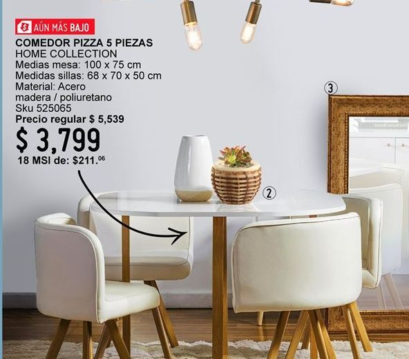 Oferta de Comedores Home Collection por $3799