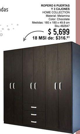 Oferta de Ropero Home Collection por $5699