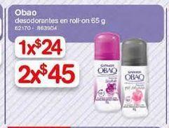Oferta de Desodorante roll on Obao por $45