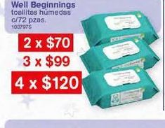 Oferta de Toallitas húmedas para bebé por $120