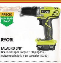 Oferta de Taladro a batería Ryobi por