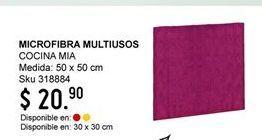 Oferta de Microfibra multiusos Cocina mia por $20.9