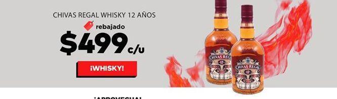 Oferta de Whisky Chivas por $499