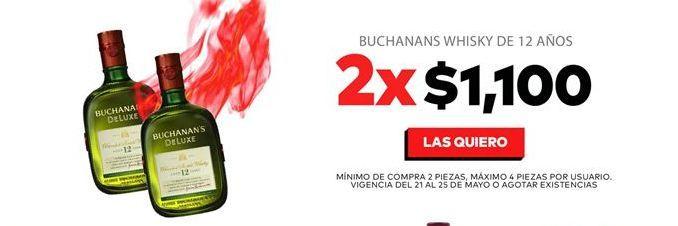 Oferta de Whisky escocés Buchanan's por $1100