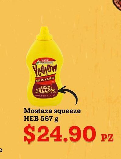 Oferta de Mostaza HEB por $24.9