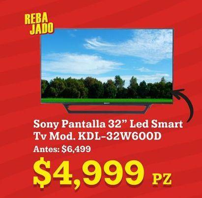 Oferta de Smart tv led 32'' Sony por $4999