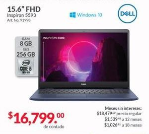 Oferta de Laptop Dell por $16799