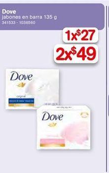 Oferta de Jabón de tocador Dove por $49