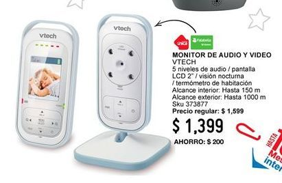 Oferta de Seguridad bebé Vtech por $1399