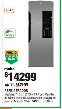 Oferta de Refrigeradores Mabe por $14299